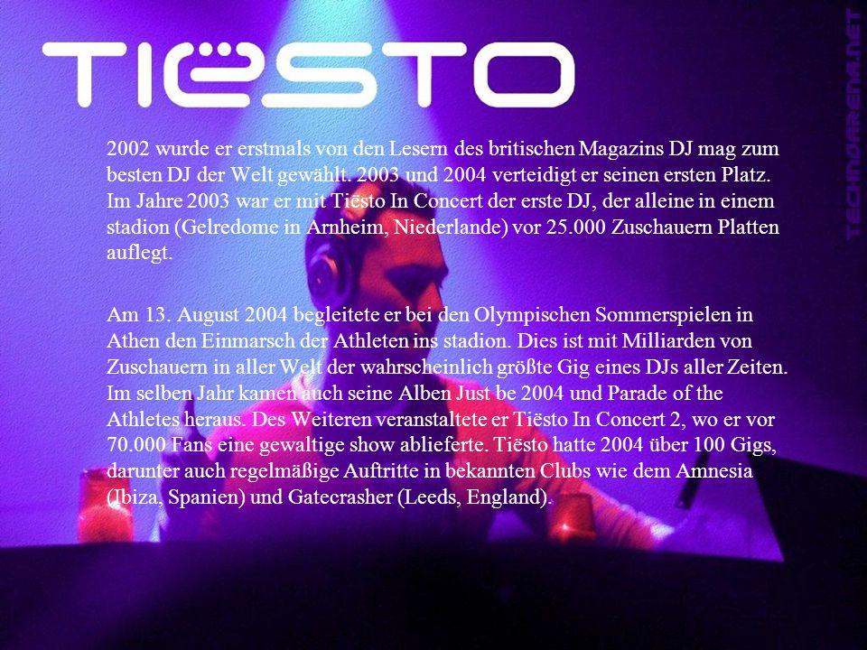 2002 wurde er erstmals von den Lesern des britischen Magazins DJ mag zum besten DJ der Welt gewählt. 2003 und 2004 verteidigt er seinen ersten Platz.