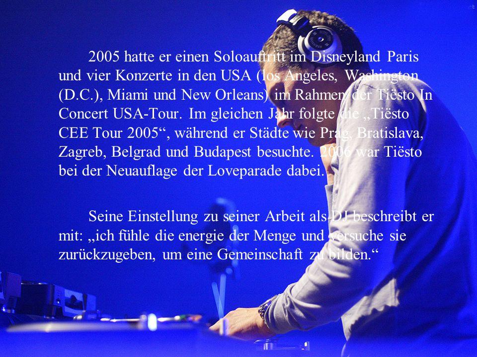 2005 hatte er einen Soloauftritt im Disneyland Paris und vier Konzerte in den USA (los Angeles, Washington (D.C.), Miami und New Orleans) im Rahmen de