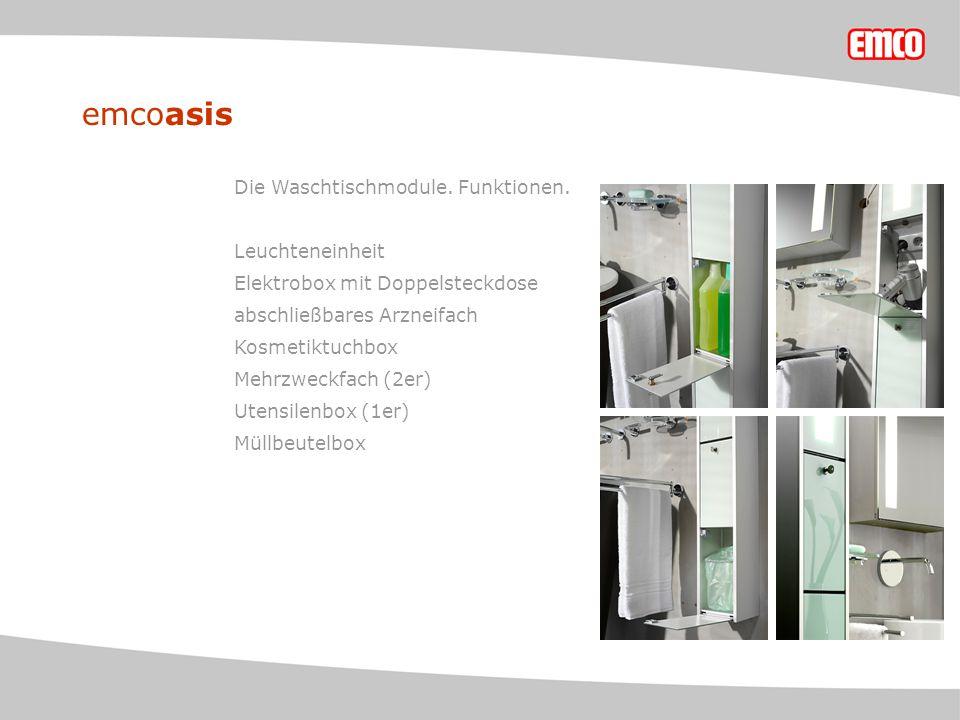 emcoasis Die Waschtischmodule. Funktionen.