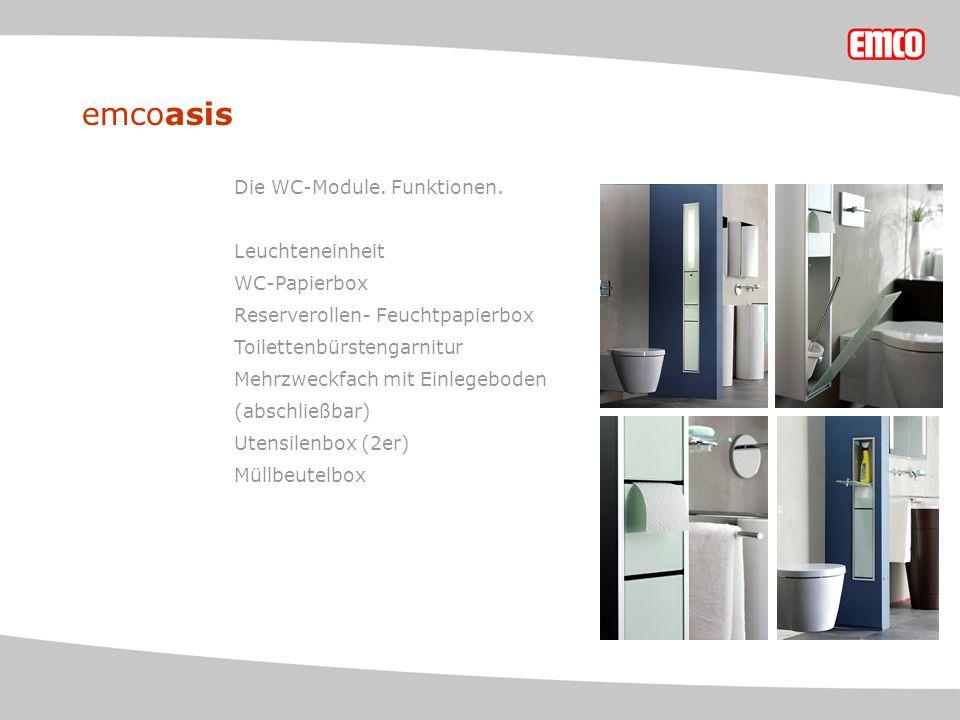 emcoasis Die WC-Module. Funktionen.