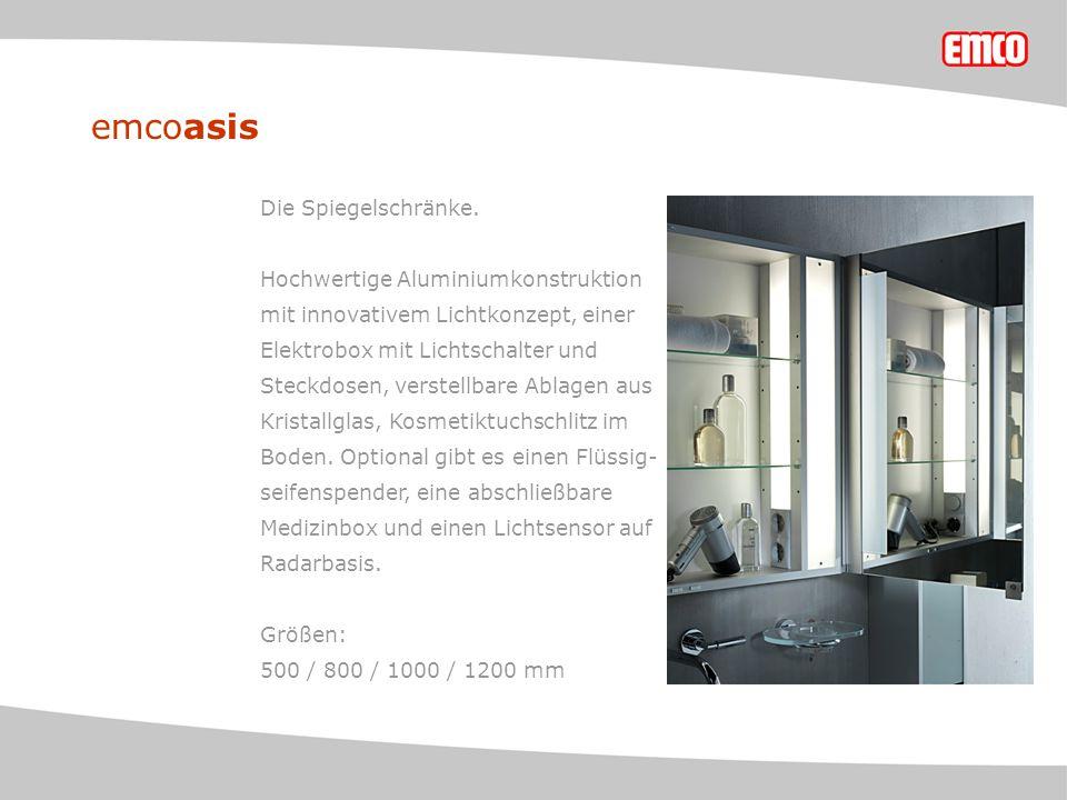 emcoasis Die Spiegelschränke.