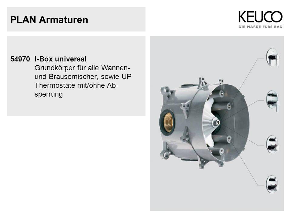 PLAN Armaturen 54970I-Box universal Grundkörper für alle Wannen- und Brausemischer, sowie UP Thermostate mit/ohne Ab- sperrung