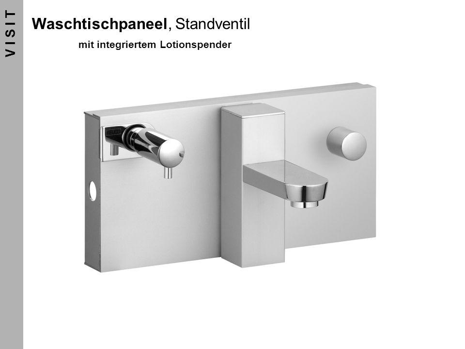 Waschtischpaneel, Standventil mit integriertem Lotionspender