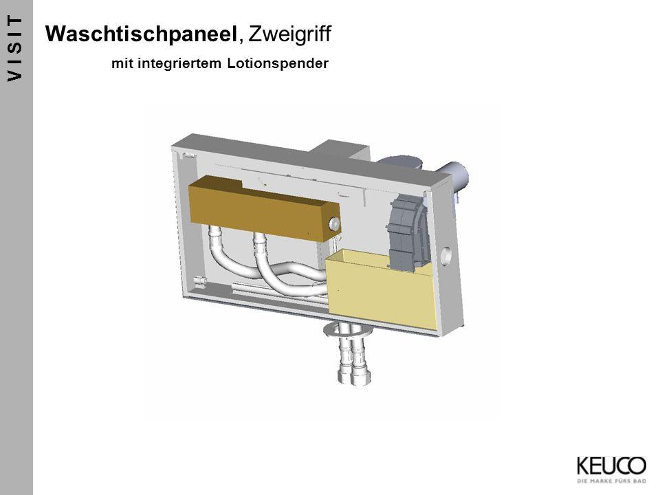 V I S I T Waschtischpaneel, Zweigriff mit integriertem Lotionspender