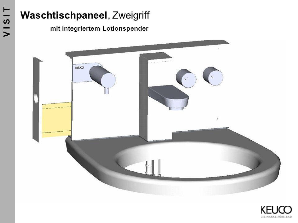 Waschtischpaneel, Zweigriff mit integriertem Lotionspender