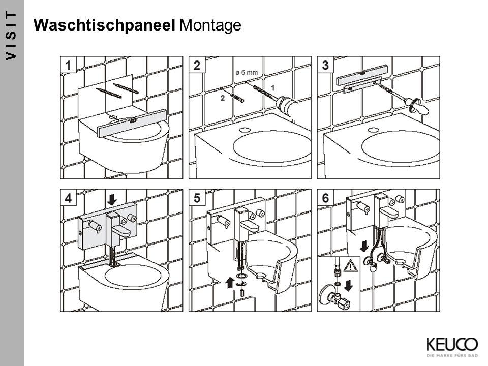 V I S I T Waschtischpaneel Montage