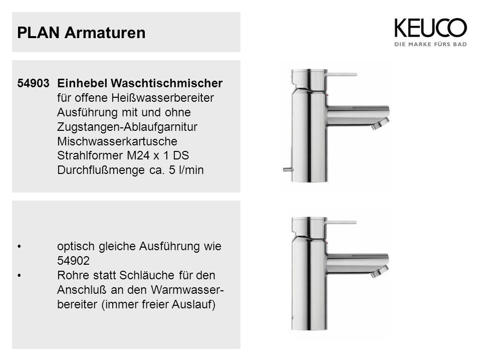 54903 Einhebel Waschtischmischer für offene Heißwasserbereiter Ausführung mit und ohne Zugstangen-Ablaufgarnitur Mischwasserkartusche Strahlformer M24