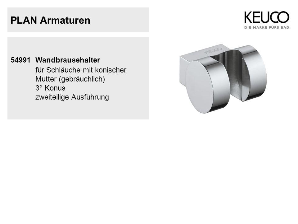 PLAN Armaturen 54991 Wandbrausehalter für Schläuche mit konischer Mutter (gebräuchlich) 3° Konus zweiteilige Ausführung