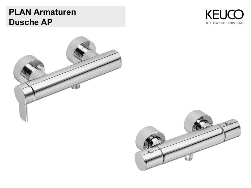 PLAN Armaturen 54945 Wanneneinlauf DN 20 Ausladung 135 mm Strahlregler M28 x 1 Rosette separat passend für alle UP-Armaturen (Artikel-Nr.