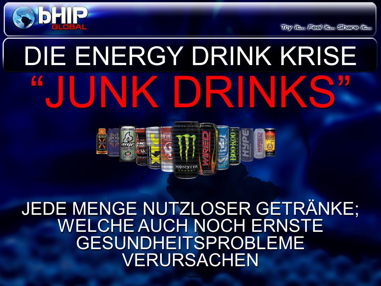 """""""JUNK DRINKS"""" JEDE MENGE NUTZLOSER GETRÄNKE; WELCHE AUCH NOCH ERNSTE GESUNDHEITSPROBLEME VERURSACHEN """"JUNK DRINKS"""" JEDE MENGE NUTZLOSER GETRÄNKE; WELC"""