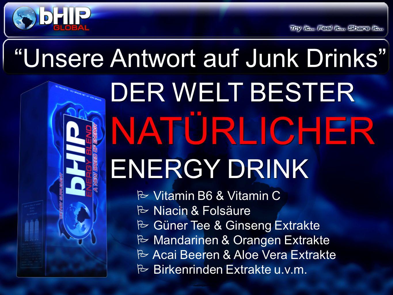 """DER WELT BESTER NATÜRLICHER ENERGY DRINK DER WELT BESTER NATÜRLICHER ENERGY DRINK """"Unsere Antwort auf Junk Drinks""""  Vitamin B6 & Vitamin C  Niacin &"""