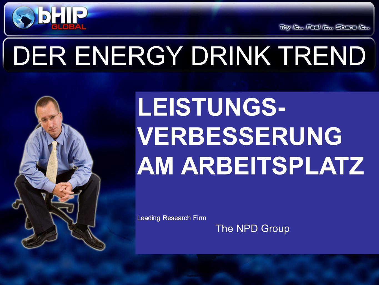 Der Energy Drink Markt wird bis 2010 um 67% wachsen Der Energy Drink Markt wird bis 2010 um 67% wachsen Red Bull wächst zur Zeit um 40% pro Jahr und erreicht in Kürze 1 Milliarde Umsatz.