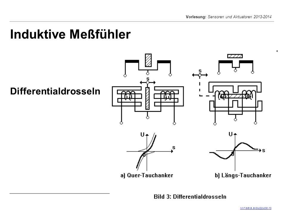 Mihaela Albu Mihaela.albu@upb.ro Vorlesung: Sensoren und Aktuatoren 2013-2014 4/41 Induktive Meßfühler Differentialdrosseln