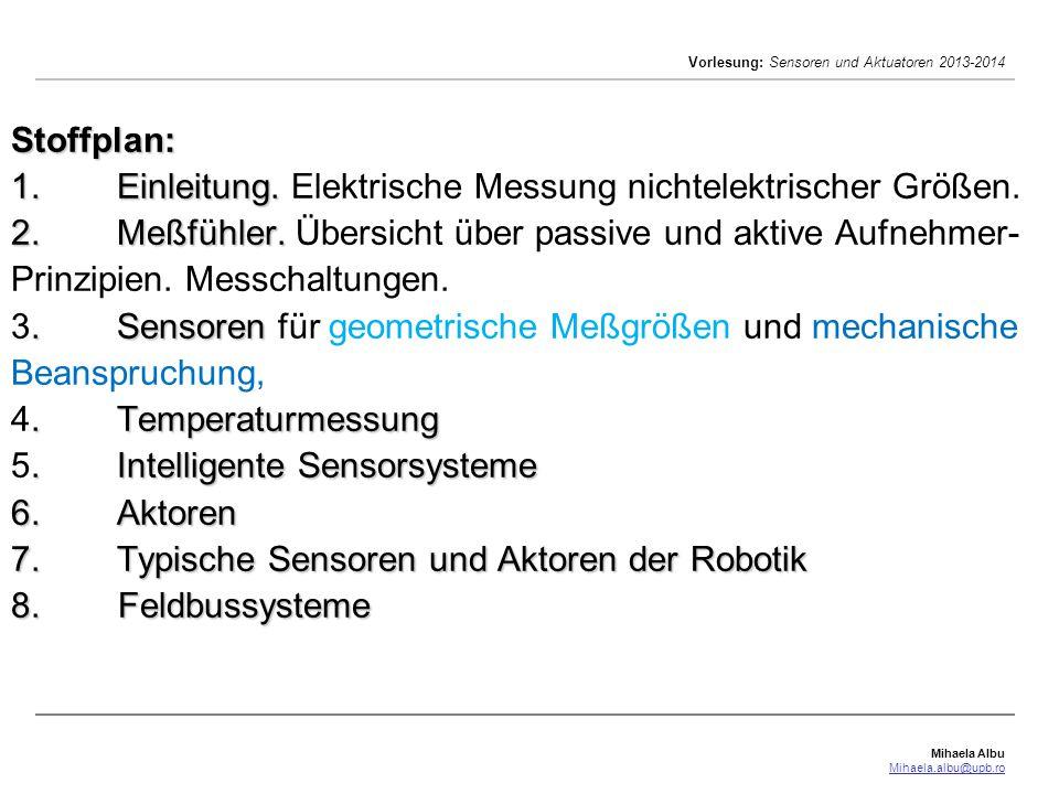 Mihaela Albu Mihaela.albu@upb.ro Vorlesung: Sensoren und Aktuatoren 2013-2014 Aufnehmer zur Beschleunigungmessung Beschleuninung: translatorisch (a) oder rotatorisch (n) A.