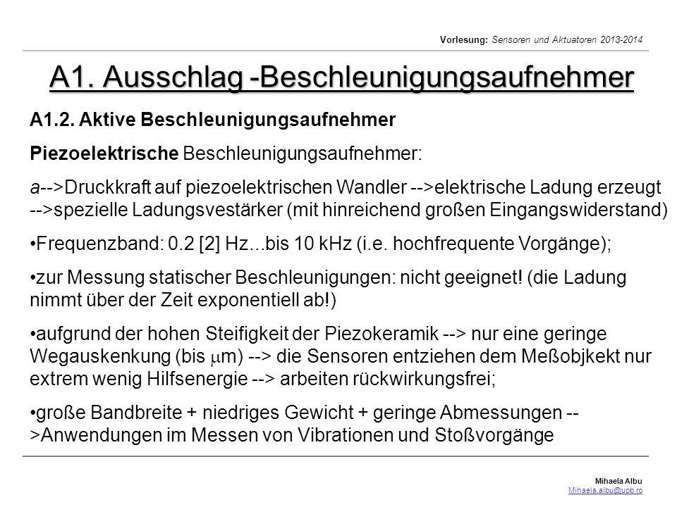 Mihaela Albu Mihaela.albu@upb.ro Vorlesung: Sensoren und Aktuatoren 2013-2014 Längen und Winkel Messung A.