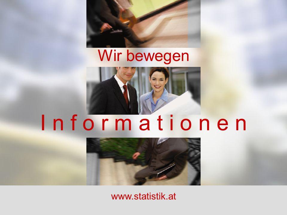 Wir bewegen I n f o r m a t i o n e n www.statistik.at