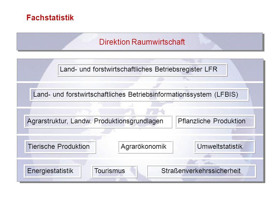 Fachstatistik Direktion Raumwirtschaft Land- und forstwirtschaftliches Betriebsregister LFR Land- und forstwirtschaftliches Betriebsinformationssystem