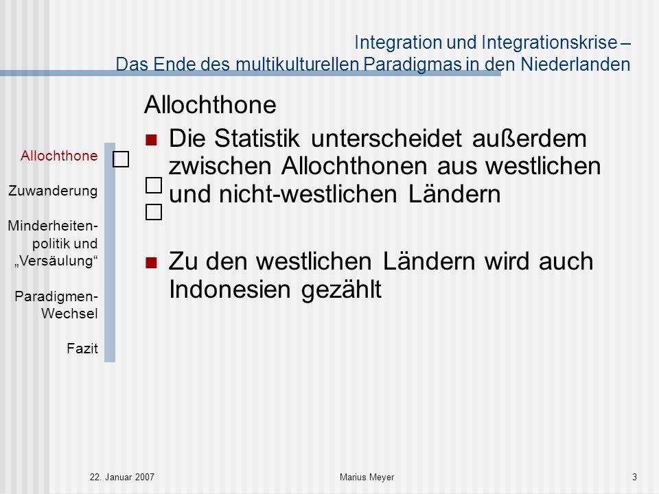 Integration und Integrationskrise – Das Ende des multikulturellen Paradigmas in den Niederlanden 22.