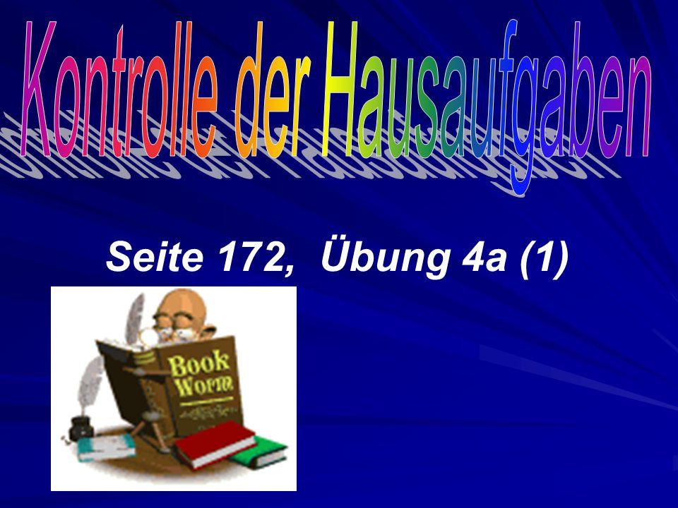 Seite 172, Übung 4а (1)