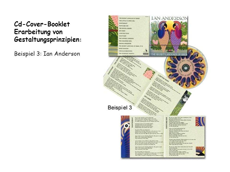 Cd-Cover-Booklet Erarbeitung von Gestaltungsprinzipien : Beispiel 3: Ian Anderson