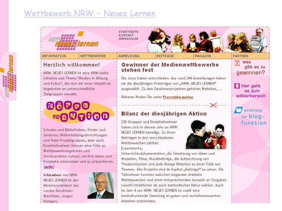 Wettbewerb NRW – Neues Lernen