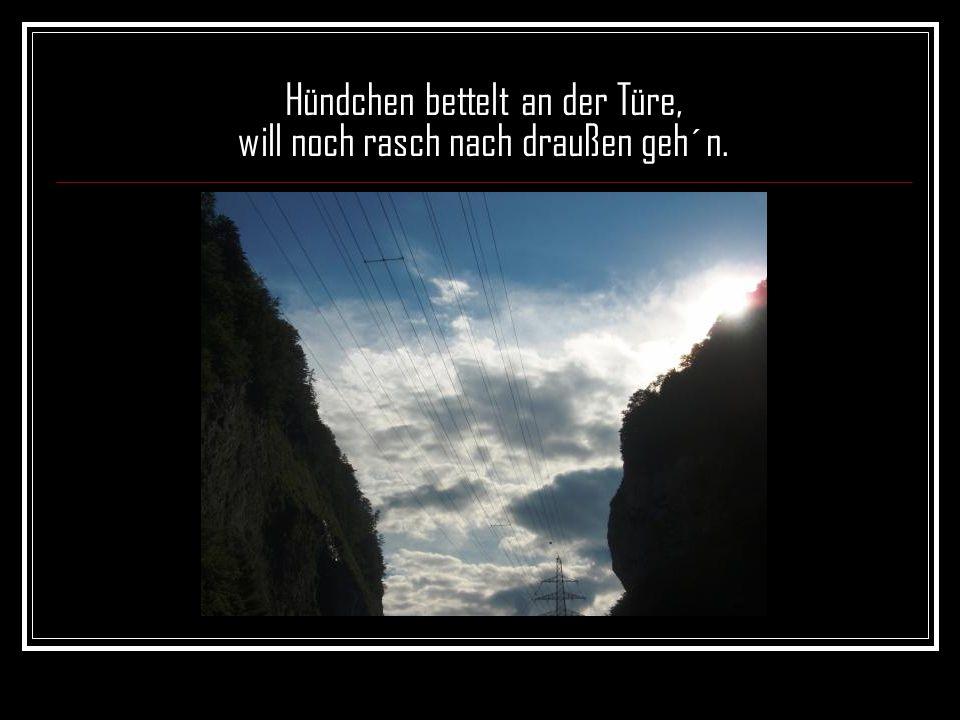 Wütend spielt der Wind mit Fenstern, die zum Lüften offen steh´n,