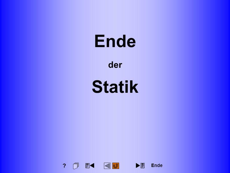 Technische Mechanik für Wirtschaftsingenieure 1 Statik Seite: 161 Ende der Statik Ende ?