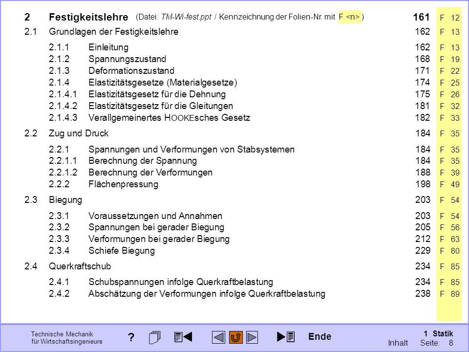 Technische Mechanik für Wirtschaftsingenieure 1 Statik Seite: 8 (Datei: TM-Wi-fest.ppt / Kennzeichnung der Folien-Nr.