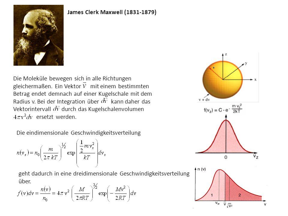 - mittlere Geschwindigkeit - mittlere quadratische Geschwindigkeit wobei folgende mathematische Gleichungen verwendet wurden: für ganzzahlig positive - die wahrscheinlichste Geschwindigkeit