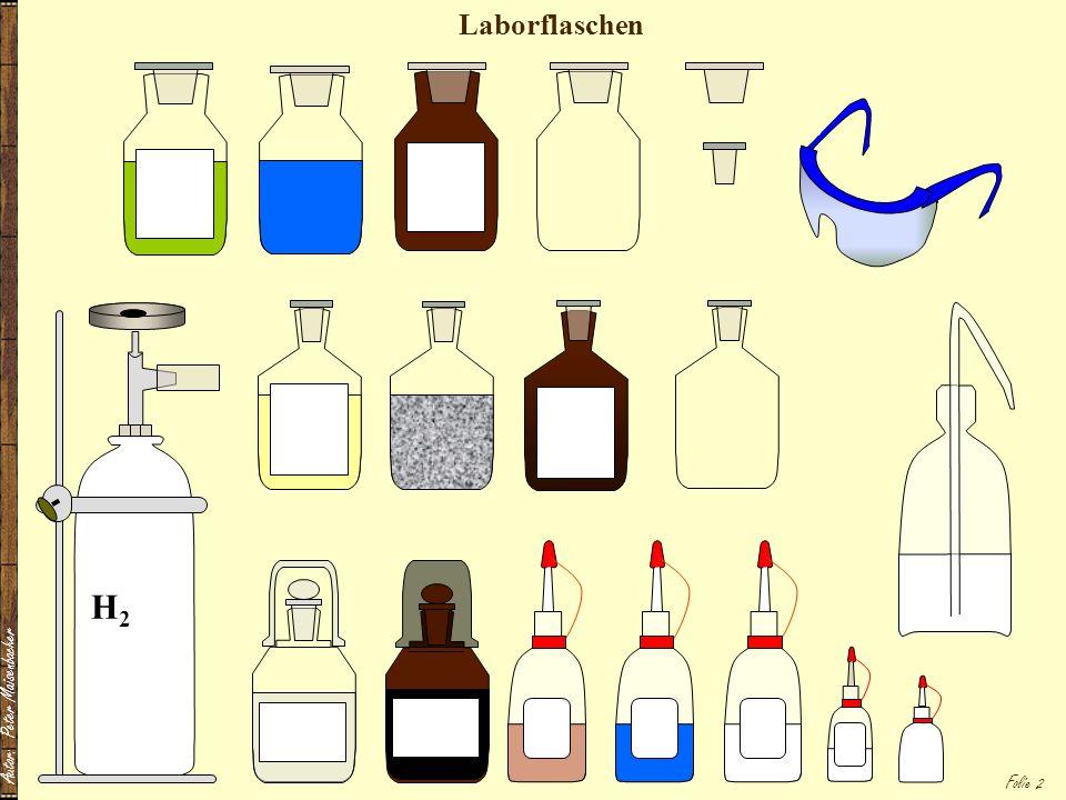 Autor: Peter Maisenbacher Folie 2 Laborflaschen H2H2