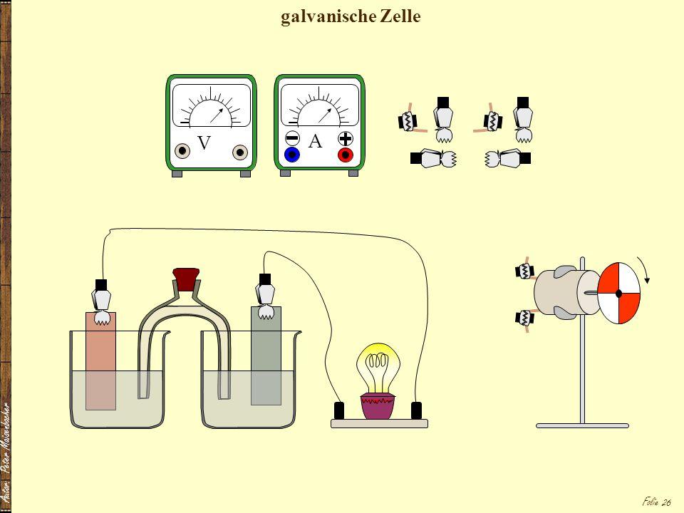 Folie 26 A V galvanische Zelle