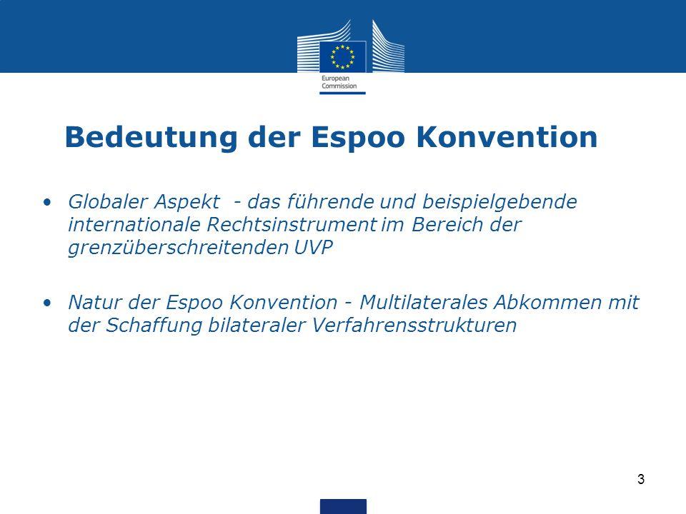 Bedeutung der Espoo Konvention Globaler Aspekt - das führende und beispielgebende internationale Rechtsinstrument im Bereich der grenzüberschreitenden