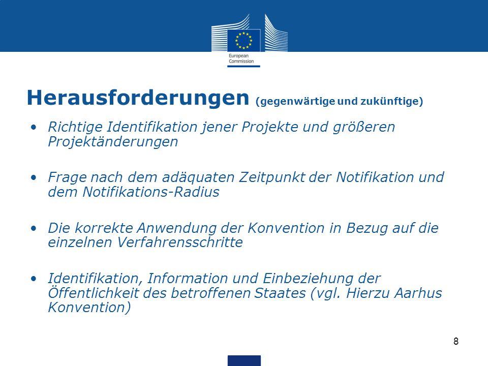 Herausforderungen (gegenwärtige und zukünftige) Richtige Identifikation jener Projekte und größeren Projektänderungen Frage nach dem adäquaten Zeitpun