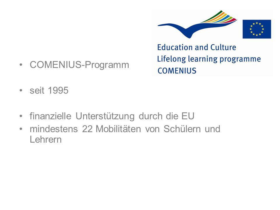 Ziele des Comenius-Projekts: z.B.
