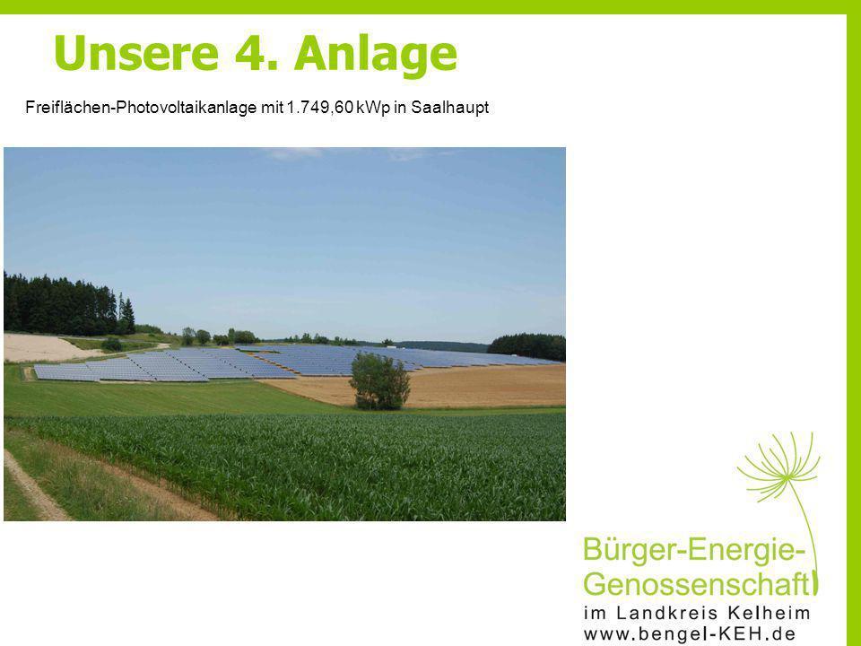 Freiflächen-Photovoltaikanlage mit 1.749,60 kWp in Saalhaupt Unsere 4. Anlage