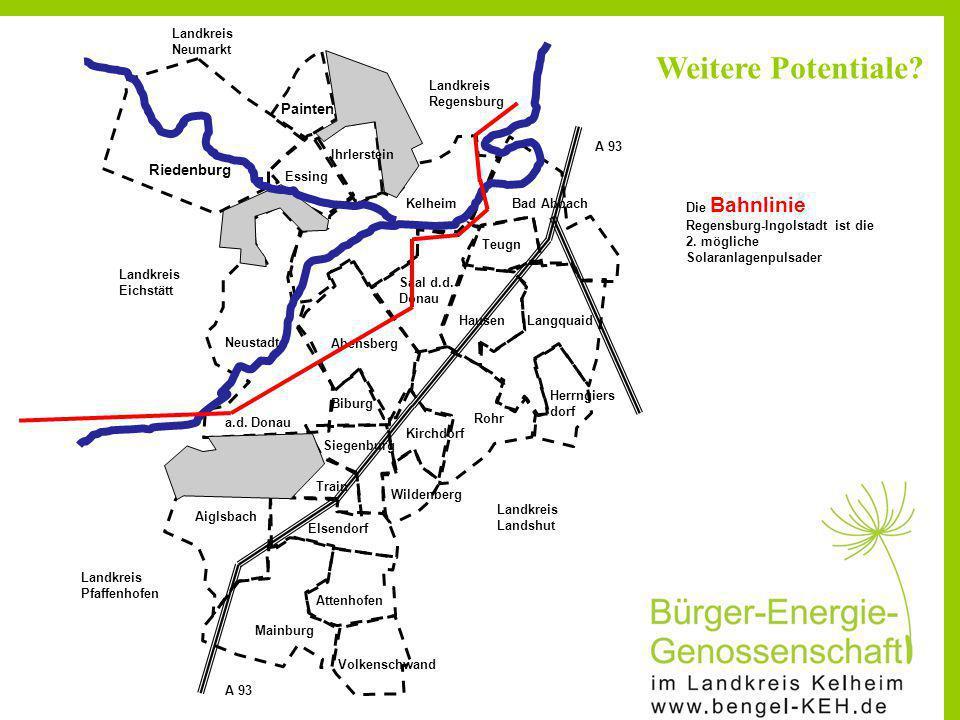 Riedenburg Painten Ihrlerstein Essing KelheimBad Abbach Teugn Saal d.d. Donau HausenLangquaid Herrngiers dorf Rohr Abensberg Neustadt a.d. Donau Bibur
