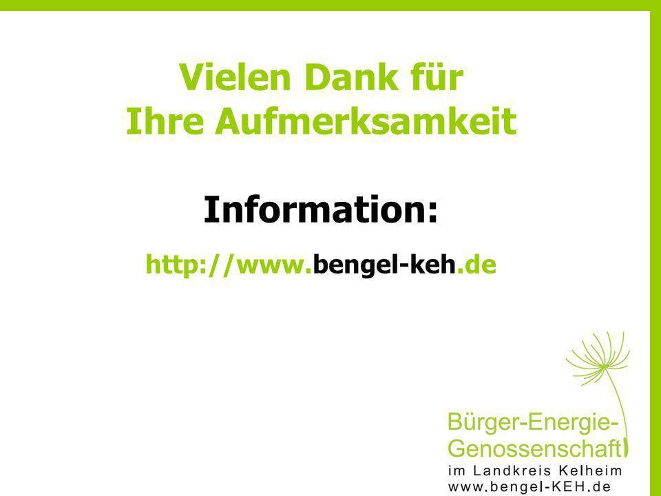Vielen Dank für Ihre Aufmerksamkeit Information: http://www.bengel-keh.de