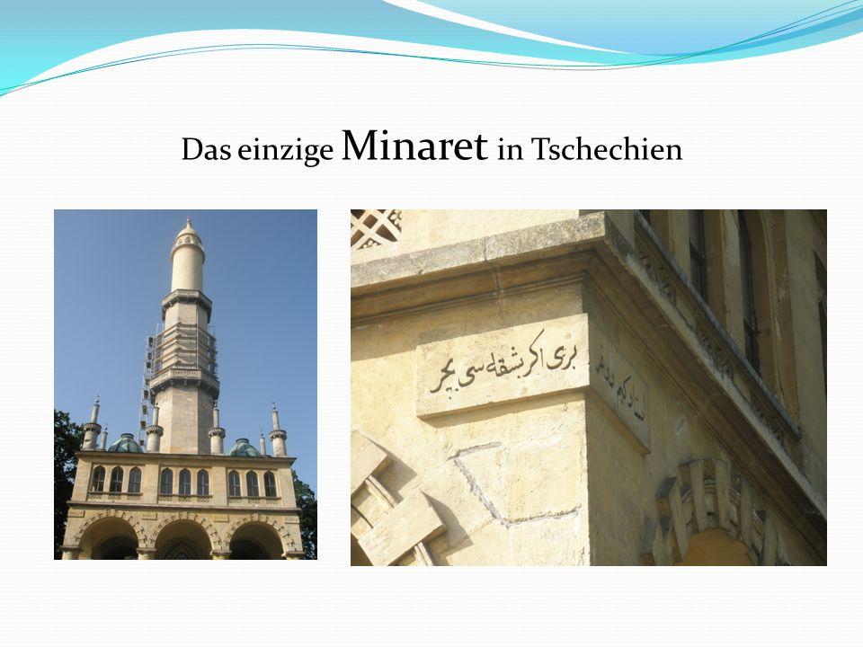Das einzige Minaret in Tschechien