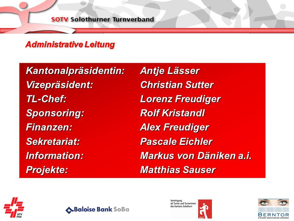 Kantonalpräsidentin: Antje Lässer Vizepräsident:Christian Sutter TL-Chef:Lorenz Freudiger Sponsoring:Rolf Kristandl Finanzen:Alex Freudiger Sekretaria