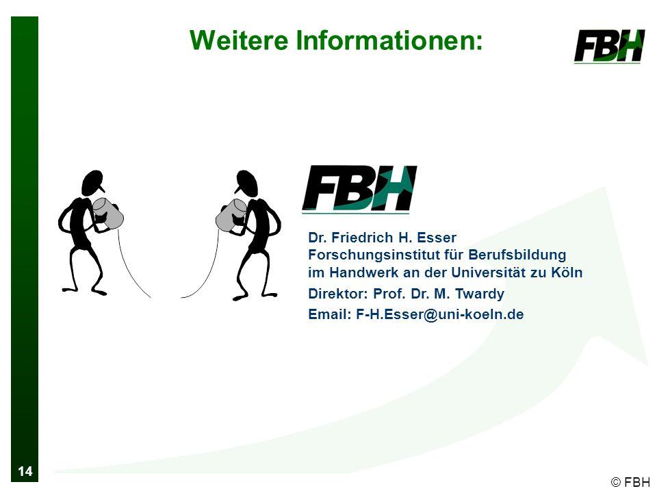14 © FBH Weitere Informationen: Dr. Friedrich H.