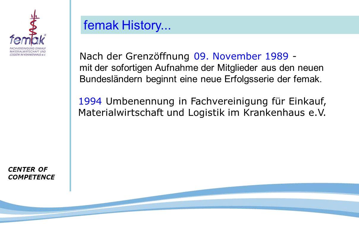 CENTER OF COMPETENCE femak History...