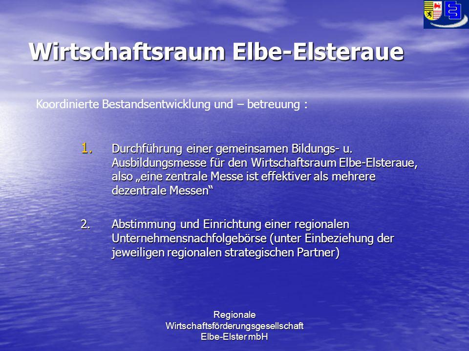 Regionale Wirtschaftsförderungsgesellschaft Elbe-Elster mbH Wirtschaftsraum Elbe-Elsteraue 1.
