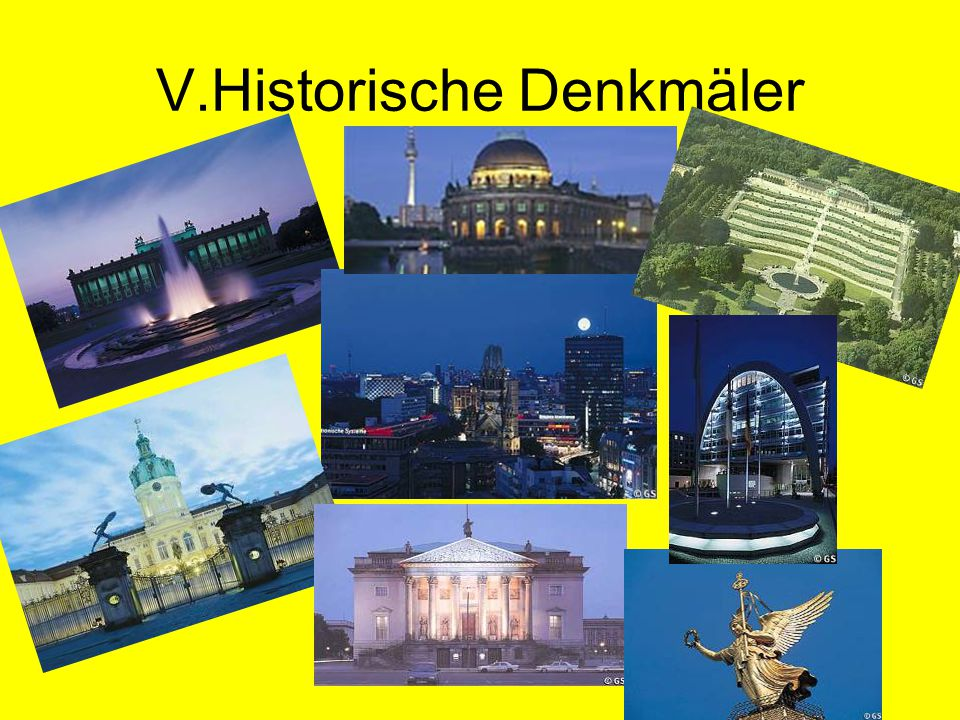 V.Historische Denkmäler