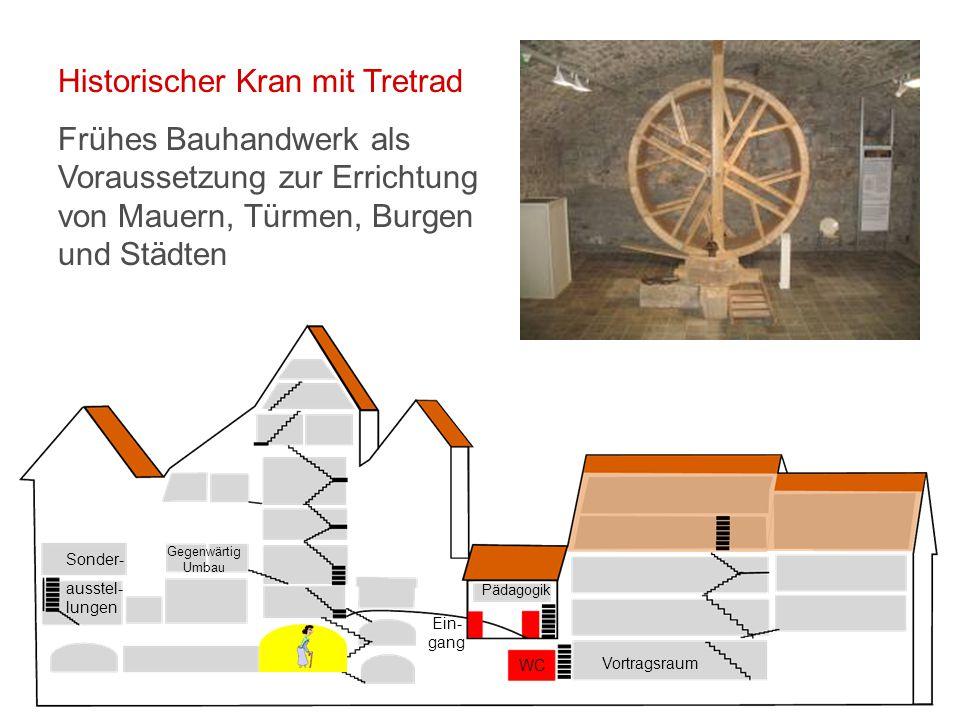 Vortragsraum WC Ein- gang Pädagogik Sonder- ausstel- lungen Gegenwärtig Umbau Sonderausstellungen Hier finden wechselnde Ausstellungen statt.
