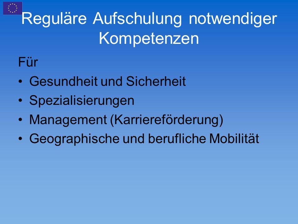 Reguläre Aufschulung notwendiger Kompetenzen Für Gesundheit und Sicherheit Spezialisierungen Management (Karriereförderung) Geographische und beruflic