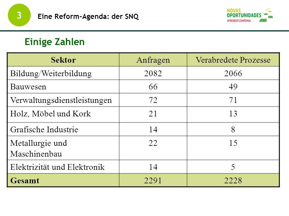 Einige Zahlen IEFP, Dec. 2006 SektorAnfragenVerabredete Prozesse Bildung/Weiterbildung20822066 Bauwesen6649 Verwaltungsdienstleistungen7271 Holz, Möbe