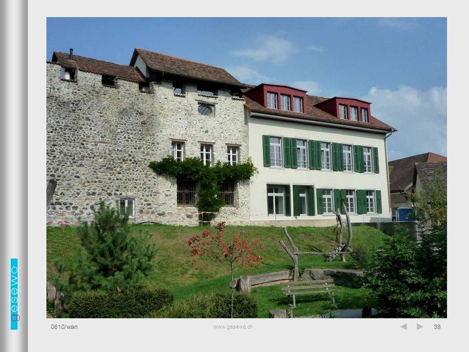 www.gesewo.ch 0610/wan38 Fassade Süd
