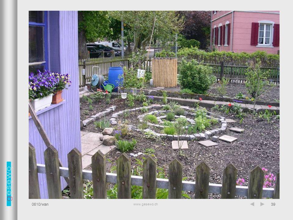 www.gesewo.ch 0610/wan39 Garten
