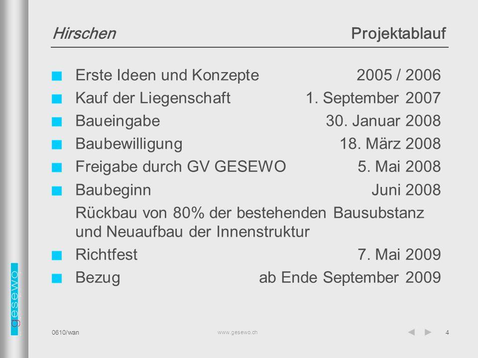www.gesewo.ch 0610/wan45 Dach 3