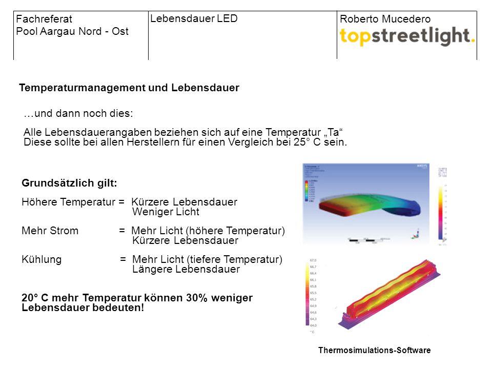 Grundsätzlich gilt: Höhere Temperatur = Kürzere Lebensdauer Weniger Licht Mehr Strom = Mehr Licht (höhere Temperatur) Kürzere Lebensdauer Kühlung = Me